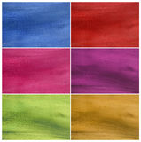 Colorful contoured natural coconut paper set Royalty Free Stock Images