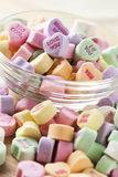 Colorful Conversation Hearts Candy. For Valentines Day stock photography