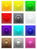 Colorful convex glossy buttons  set Stock Photography