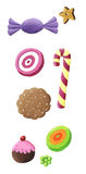 Colorful Cookie and candy Stock Photography
