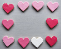 Colorful Cookie Hearts Shape Decorative Love Smitten Valentine D Stock Photos