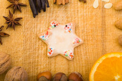 Colorful cookie with star shape Stock Photos