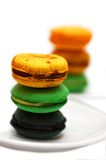 Colorful cookies. Isolated on a white background Stock Images