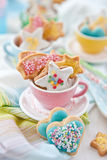 Colorful Cookies for christmas Royalty Free Stock Photography