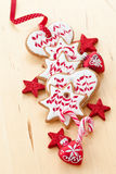 Colorful cookies for christmas Stock Photography