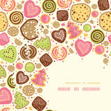 Colorful cookies corner pattern background Stock Photography