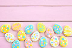 Colorful cookies with polka dots Stock Image
