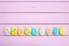 Colorful cookies with polka dots Royalty Free Stock Photos