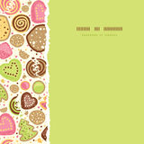 Colorful cookies square torn seamless pattern background Stock Image