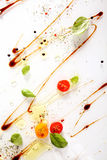 Colorful cooking ingredients abstract background Royalty Free Stock Photo