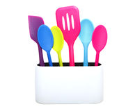 Colorful cooking tools. Colorful home kitchen cooking tools Royalty Free Stock Photos