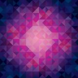 Colorful Cool Toned Triangles - Abstract Background Stock Photos