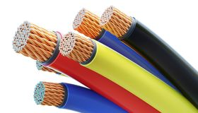 Free Colorful Copper Cables And Wires Isolated On White Background. 3D Rendered Illustration Stock Photo - 118270710