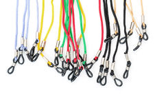 Colorful Cords with a Loops for Eyeglasses Royalty Free Stock Image