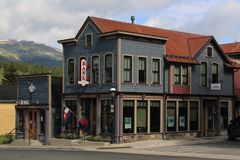 Colorful corner business in Breckenridge, Colorado Stock Photos