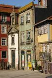 Colorful corner in the old town. Porto. Portugal royalty free stock photos