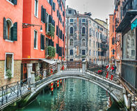 Colorful corner in Venice Royalty Free Stock Photography