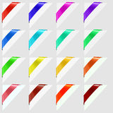 Colorful Corners Marks Royalty Free Stock Photos