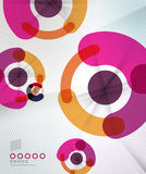 Colorful corporate abstract design templates Royalty Free Stock Photo