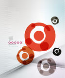 Colorful corporate circles design templates Stock Photography