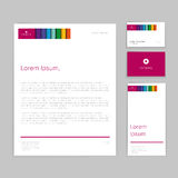 Colorful corporate identity vector Stock Photos