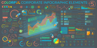 Colorful Corporate Infographic Elements Royalty Free Stock Image