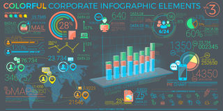 Colorful Corporate Infographic Elements. Infographic elements collection, corporate vector illustration in flat style Stock Photography
