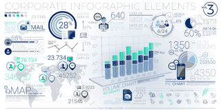 Colorful Corporate Infographic Elements Stock Photography