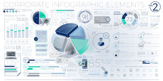 Colorful Corporate Infographic Elements Stock Images