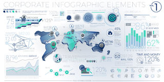 Colorful Corporate Infographic Elements Royalty Free Stock Images