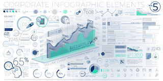Colorful Corporate Infographic Elements Royalty Free Stock Photos
