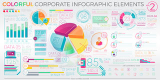 Colorful Corporate Infographic Elements Stock Photos
