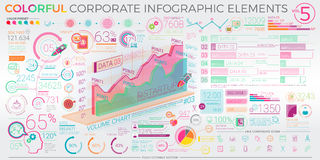 Colorful Corporate Infographic Elements Royalty Free Stock Photo