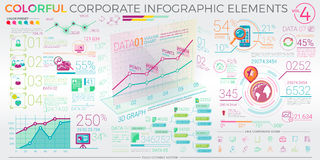 Colorful Corporate Infographic Elements Stock Photo