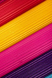 Colorful corrugated cardboard background Stock Photography