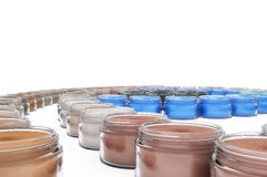 Colorful Cosmetic Jars Royalty Free Stock Photo