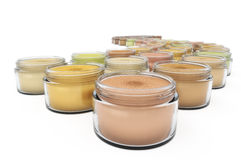 Colorful Cosmetic Jars Royalty Free Stock Photos