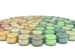 Colorful Cosmetic Jars Stock Image