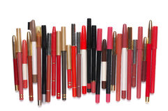 Colorful cosmetic pencils set Royalty Free Stock Image