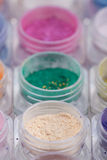 Colorful cosmetic powder pigments Royalty Free Stock Images