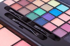 Colorful cosmetic set and makeup Royalty Free Stock Images