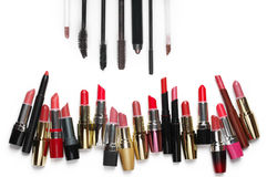 Colorful cosmetic set Royalty Free Stock Images