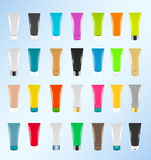 Colorful Cosmetic tubes Stock Images
