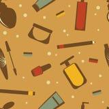 Cosmetics seamless pattern Stock Photo
