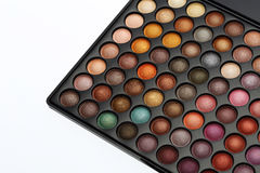 Colorful cosmetics set. For make up and beauty on white background Royalty Free Stock Photos