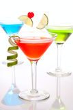 Colorful Cosmopolitan cocktails Stock Images