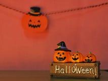 Halloween pumpkins on board. royalty free stock photos