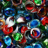 Colorful costume jewellery background Royalty Free Stock Photos