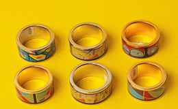 Colorful  costume jewelry ring Royalty Free Stock Photo
