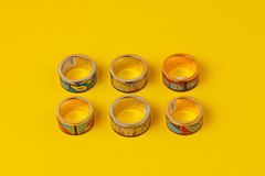 Colorful  costume jewelry ring Royalty Free Stock Images